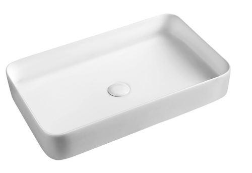 Sapho BLADE keramické umyvadlo 65x11x40 cm, na desku, bez přepadu