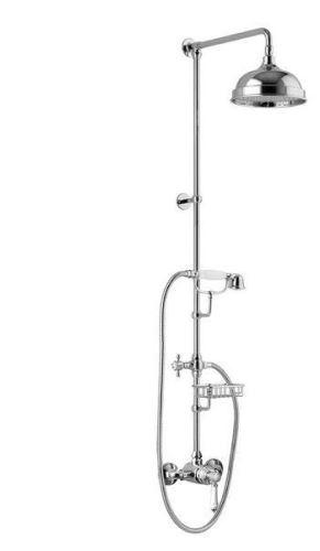 Sapho VIENNA sprch. sloup s pákovou baterií, mýdlenka, v. 1291mm, chrom