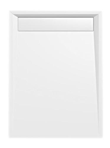 Polysan VARESA sprchová vanička z litého mramoru se záklopem, obdélník 120x90x4cm, bílá