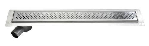 Aqualine KROKUS nerezový sprchový kanálek s roštem, 960x140x92 mm