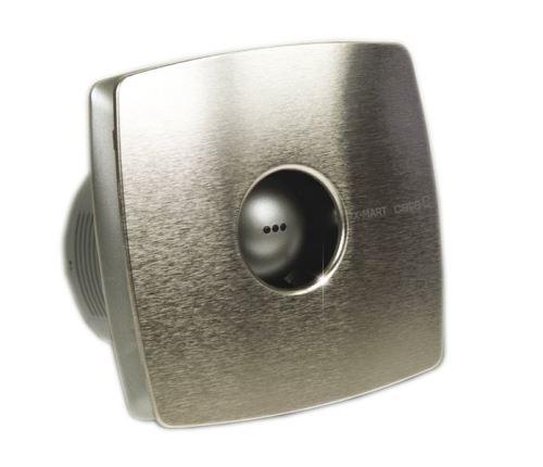 Cata X-MART 10T koupelnový ventilátor axiální s časovačem, 15W, potrubí 100mm, nerez