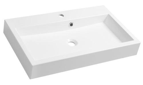 Sapho ORINOKO umyvadlo 70x42cm, litý mramor, bílá