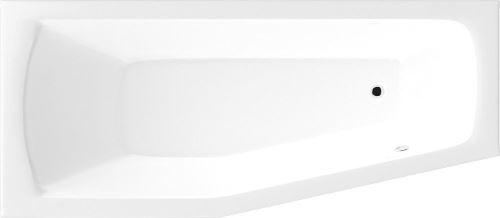Aqualine OPAVA vana 160x70x39cm bez nožiček, levá, bílá