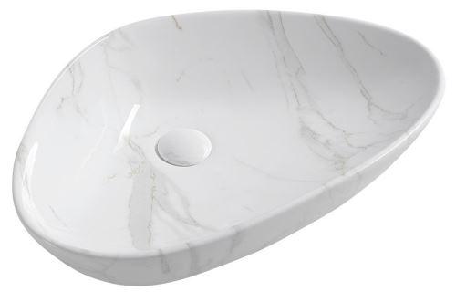 Sapho DALMA keramické umyvadlo 58,5x39x14 cm, carrara