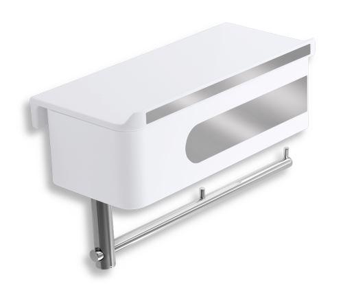 NOVASERVIS WC polička se zásuvkou a držákem toaletního papíru (65538,1)