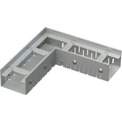 ALCAPLAST Drenážní žlab rohový 75 mm nastavitelný, pozinkovaná ocel (ADZ101VR)