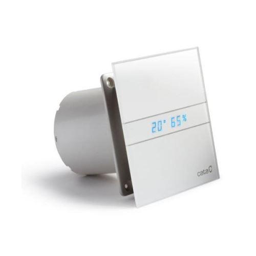Cata E-100 GTH koupelnový ventilátor axiální s automatem, 4W/8W, potrubí 100mm, bílá