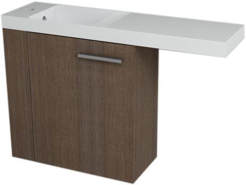 Sapho LATUS VI umyvadlová skříňka 50x50x22cm,levá, Borovice rustik