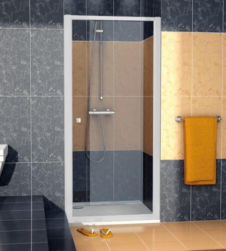 SANSWISS Jednokřídlé dveře ECO-LINE ECOP  80cm, matný elox/sklo (ECOP08000107)