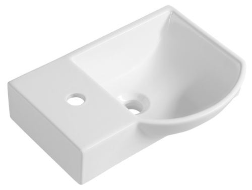 Sapho LITOS keramické umývátko levé, 45x32 cm, bílá