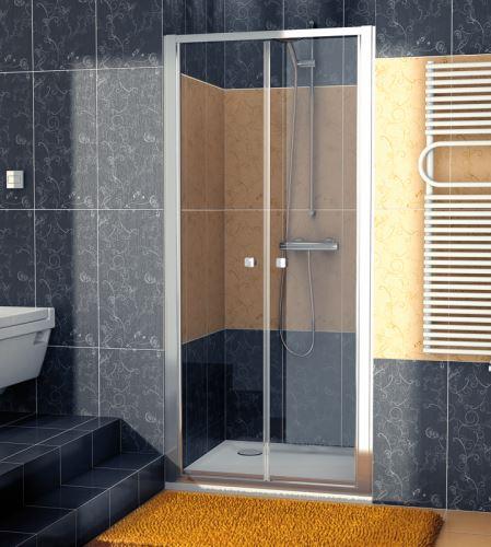 SANSWISS Dvoukřídlé dveře ECO-LINE ECP2  80 cm, aluchrom/sklo (ECP208005007)