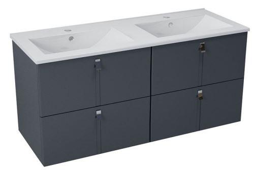 Sapho MITRA umyvadlová skříňka s umyvadlem 150x55x46 cm, antracit