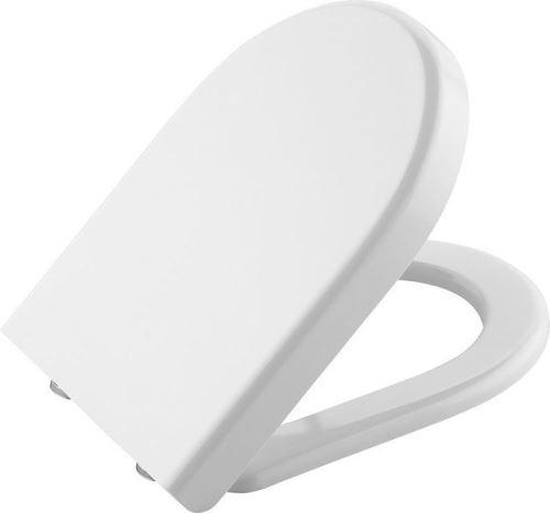 Sapho CLAUDIA WC sedátko soft close pro závěsné WC RIMLESS, bílá