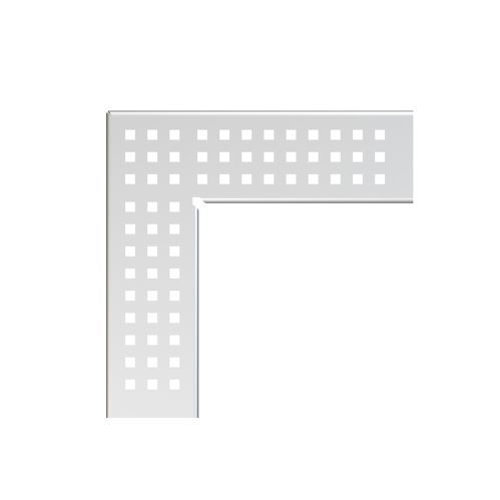 ALCAPLAST Rošt pro drenážní žlab rohový 100 mm, nerez (ADZ-R323R)