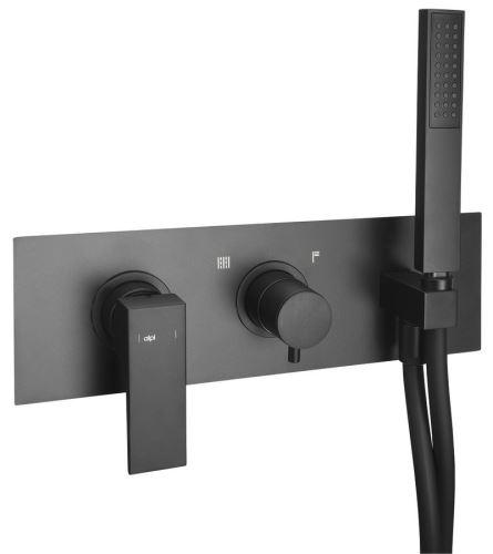 Sapho DIMY podomítková sprchová baterie s ruční sprchou, 2 výstupy, černá mat