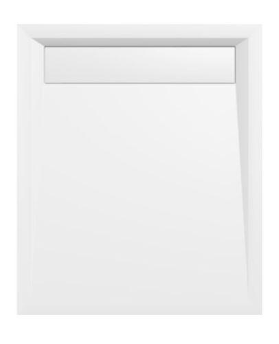 Polysan VARESA sprchová vanička z litého mramoru se záklopem, obdélník 100x80x4cm, bílá