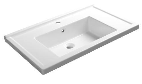 Aqualine ZENO 80 nábytkové umyvadlo 80x48,5cm