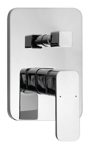 Aqualine FACTOR podomítková sprchová baterie, 2 výstupy, chrom