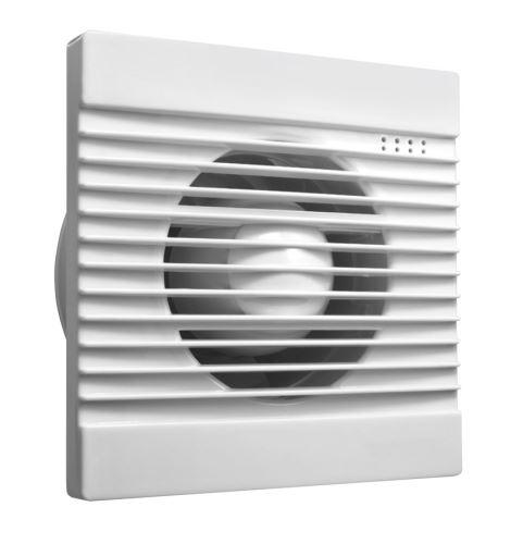 Aqualine Koupelnový ventilátor, 230V/50Hz, 100mm, bílá