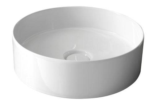 Sapho STORM CIRCLE umyvadlo prům. 40,5 cm, včetně výpusti s keram. zátkou