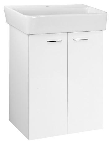 Aqualine ZOJA umyvadlová skříňka 56x63x35,6cm, bílá