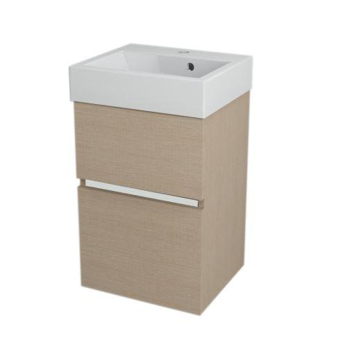 Sapho LARGO umyvadlová skříňka 41x60x35cm, dub benátský