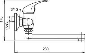 NOVASERVIS Umyvadlová dřezová baterie 150 mm Metalia 55 chrom (55076,0)