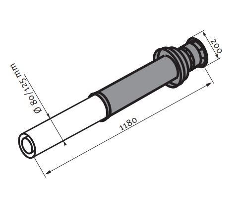 PROTHERM Sestava komínová oddělená 80/125 mm - S4K (0020019089)