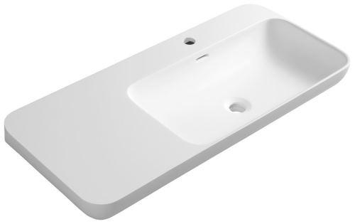 Sapho NIAGARA umyvadlo s odkládací plochou vlevo, 90x14x40cm, bílá mat