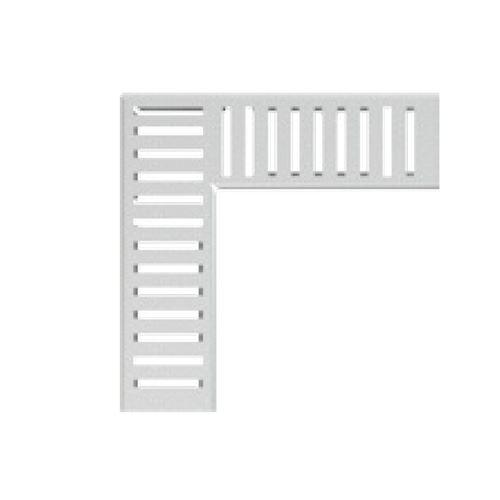 ALCAPLAST Rošt pro drenážní žlab rohový 100 mm, pozinkovaná ocel (ADZ-R122R)