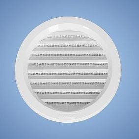 VM 100 B Větrací mřížka kruhová se síťovinou (bílá)