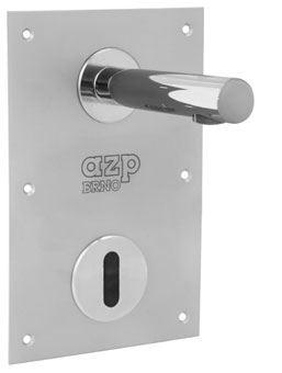 AZP BRNO Automatická nástěnná baterie s krytem a mont. krabicí pro teplou a studenou vodu - 12 V, 50 Hz (AUM 15K.2)