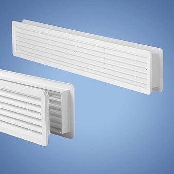 VM 500×90 DB Větrací mřížka dveřní 2ks (bílá)