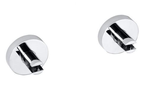 Sapho X-ROUND E pár držáků poličky bez skla, 8 mm, chrom
