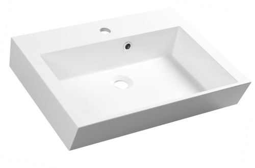 Sapho ORINOKO umyvadlo 60x45cm, litý mramor, bílá