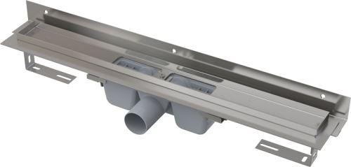 ALCAPLAST APZ4 FLEXIBLE-750 Podlahový žlab s okrajem pro perforovaný rošt a s nastavitelným límcem ke stěně