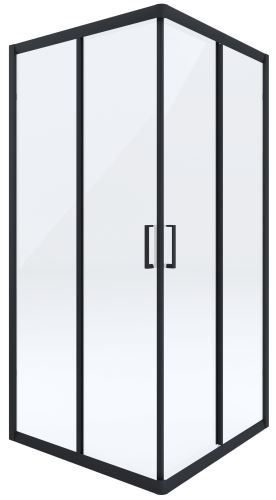 DEANTE Čvercová zástěna FUNKIA 90x90, transparent/černá