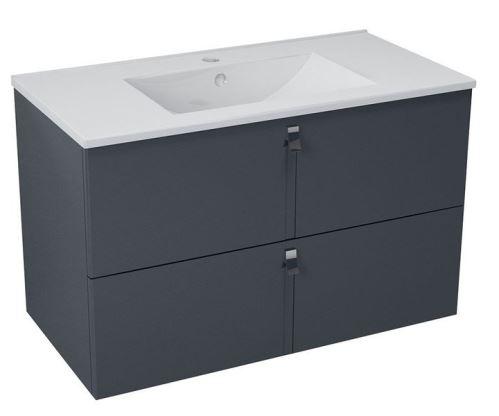 Sapho MITRA umyvadlová skříňka 89,5x55x45,2 cm, antracit