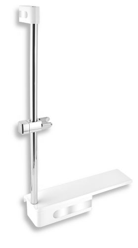 NOVASERVIS Posuvný držák sprchy s poličkou (65586,4)