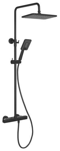 Sapho DARK teleskopický sprchový sloup s termostatickou baterií, černá