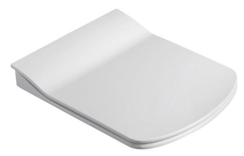 Sapho GLANC WC sedátko, Slim soft close, duroplast, bílá