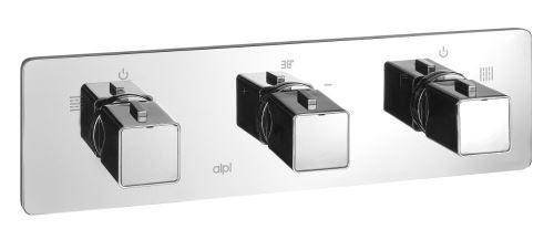 Sapho NOTOS podomítková sprchová termostatická baterie, 3 výstupy, chrom