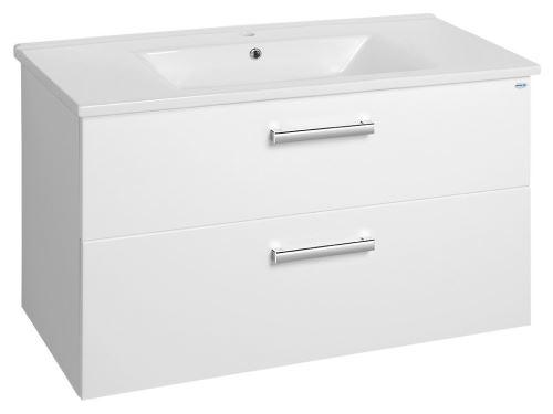 Aqualine VEGA umyvadlová skříňka 97x60x43,8 cm, 2xzásuvka, bílá