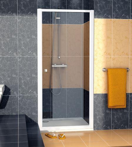SANSWISS Jednokřídlé dveře ECO-LINE ECOP  90cm, bílá/sklo (ECOP09000407)