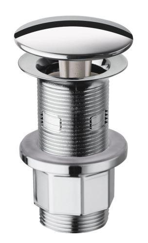 Silfra Neuzavíratelná kulatá výpust pro umyvadla s přepadem i bez, V 10-80mm,chrom