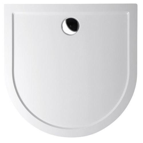 Polysan ISA 100 sprchová vanička z litého mramoru, půlkruh 100x100x4cm, bílá