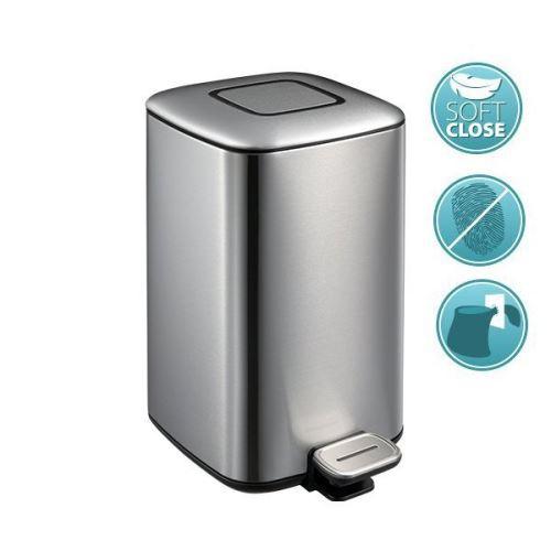 Sapho REGENT Odpadkový koš 12l, Soft Close, nerez mat
