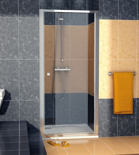 SANSWISS Jednokřídlé dveře ECO-LINE ECOP 100cm, aluchrom/sklo (ECOP10005007)