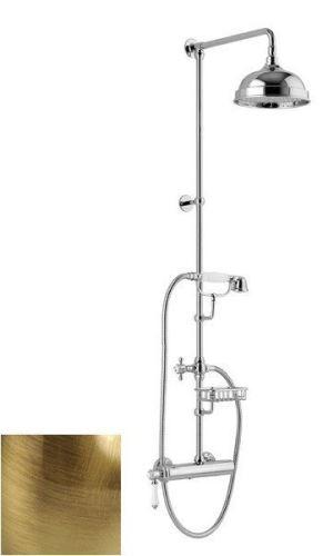 Sapho VIENNA sprch. sloup s pákovou baterií, mýdlenka, v. 1267mm, bronz