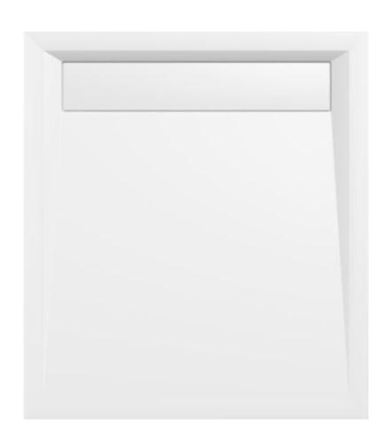 Polysan VARESA sprchová vanička z litého mramoru se záklopem, obdélník 90x80x4cm, bílá